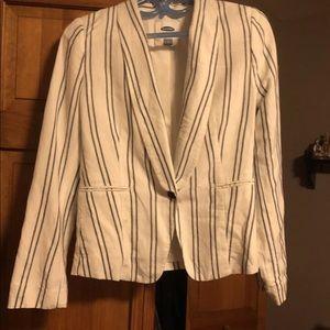 Linen striped blazer